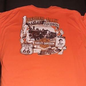 Harley Davidson t shirt size xxl orange